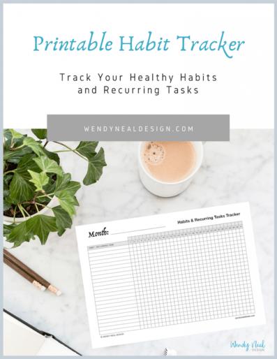 Wendy Neal Design - Habit Tracker Printable