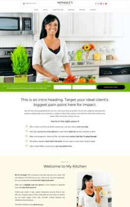 Wendy Neal Design - Monique Site Template