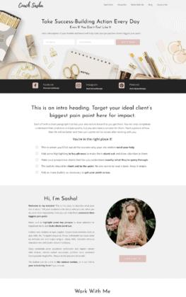 Wendy Neal Design - Sasha Site Template